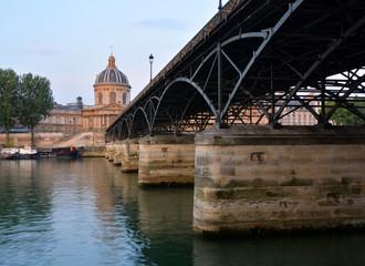 Pont Des Arts Bridge & Institut de France Building, Paris France