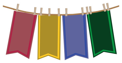 Layout design of hanging banners