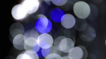 Bokeh flashlight reflection