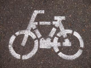 路面の自転車標識