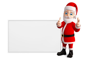 Santa with white board