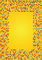 Yellow Background Design with Mosaic Patterns