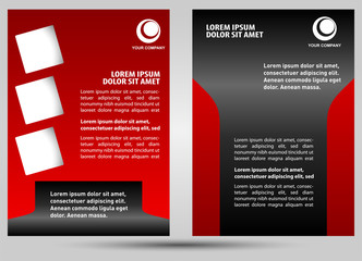 Abstract template brochure design