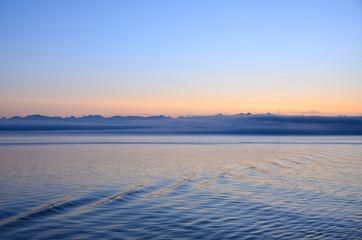 Sunrise off the coast