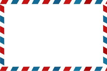 mail envelope red, blue lines empty for your text