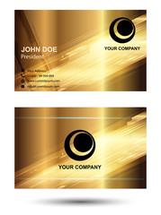 Gold business cards set