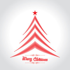 Abstract background Christmas tree with text