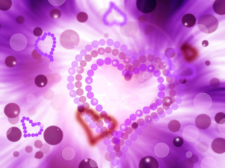 abstract valentine rising hearts celebration purple background