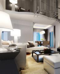 Modern Villa Interior (focus)