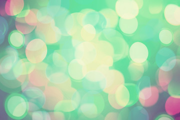 Bright colorful bokeh background for Christmas and New Year.