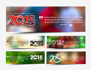 New year website header and banner set with presents.