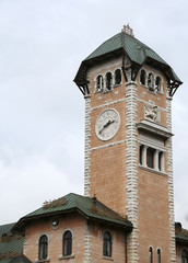 town hall tower with the town of Asiago