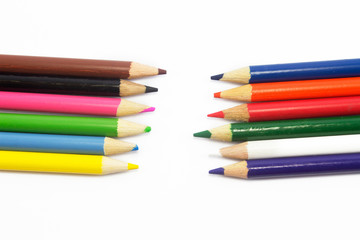 pencils isolated on white background
