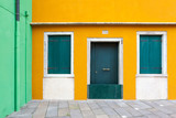 Colorful walls in Burano, Venice, Italy