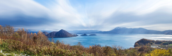 Lake Shikotsu at Shikotsu Toya National Park in Hokkaido.