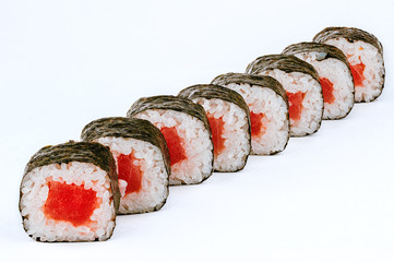 Sushi rolls with tuna fish