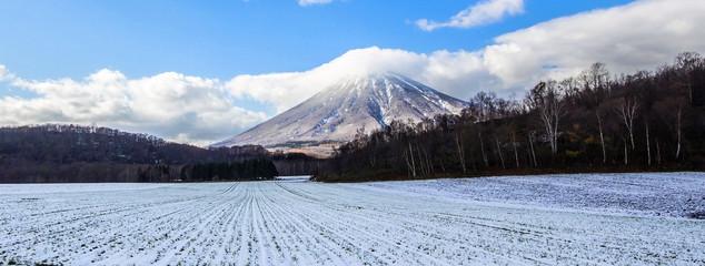 Mount Yotei Hokkaido Japan, field snow