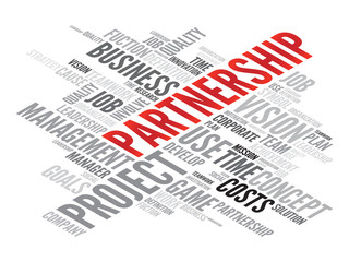 PARTNERSHIP business concept in word tag cloud, vector
