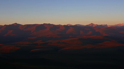 Caucasus mountains in the morning