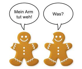 Weihnachtlicher Lebkuchen-Witz, Vektor