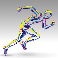 startujący biegacz wektor