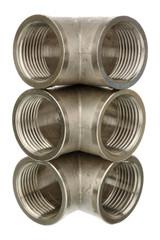 Three chrome fittings