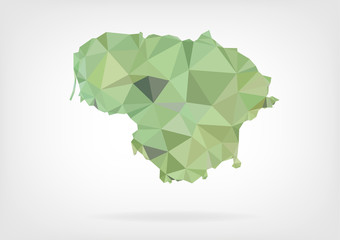 Low Poly Map of Lithuania