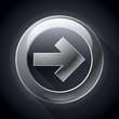 Vector metal arrow, component your business, design, black