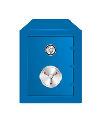 Bank Safe in blue design