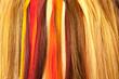 mèches de cheveux, nuancier coiffure