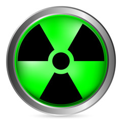 Radiation sign button