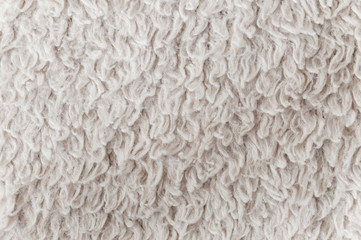 Texture of a white carpet