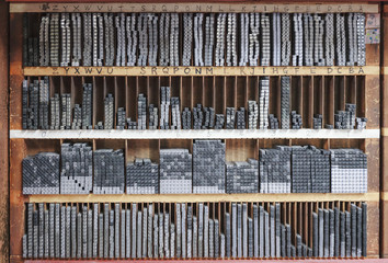 Letterpress Print typeset tools Vintage object