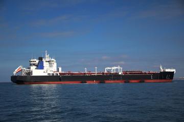 tanker on the high seas