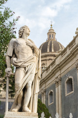 Statue of the the Cathedral of Sant'Agata in Catania