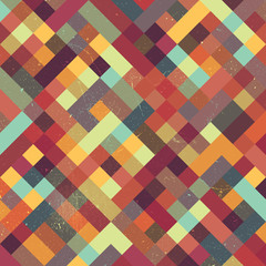 A retro style vector pattern background with a grunge texture