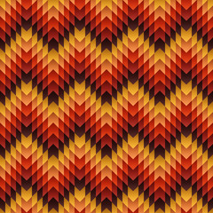 Aztec seamless pattern. Vector