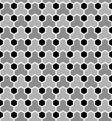 Hexagons tiled pattern. Seamless geometric texture.