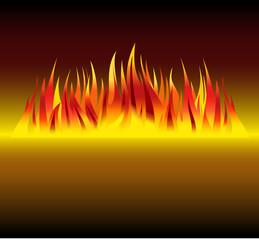 fire in dark vector background illustration
