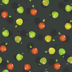 Seamless pattern of apples, vector illustration