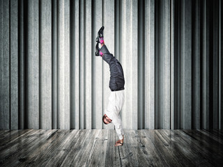 acrobat businessman