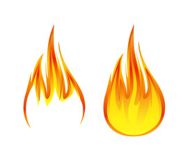flame symbol or icon vector illustration