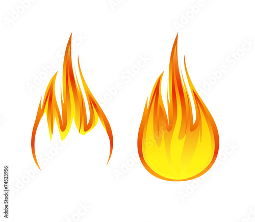 Leinwandbild Motiv flame symbol or icon vector illustration