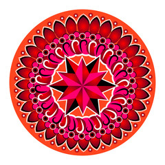 Red circle mandala pattern
