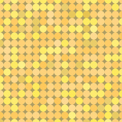 Yellow  vintage background made with circles