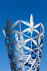 The Chalice sculpture in Christchurch's Cathedral Square