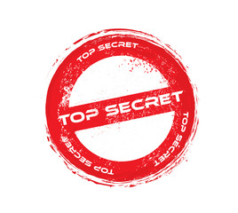 top secret grunge vector stamp
