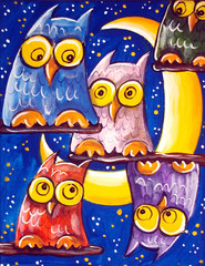 Crowd Of Owls