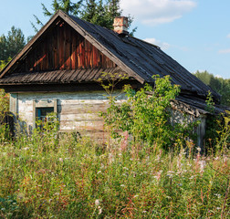 wooden abandoned house