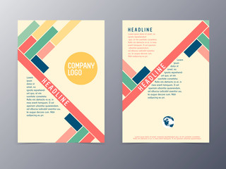 colorful modern design flyer template vector